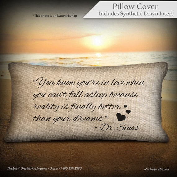 You Know You Re In Love When Quotes: Items Similar To Quote Pillow