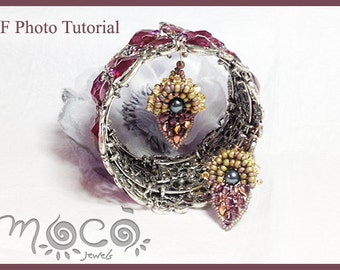 Photo Tutorial ENG-ITA,DIY Earrings,*Dasy* earrings PDf Pattern 01