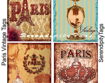 Paris Vintage Tags