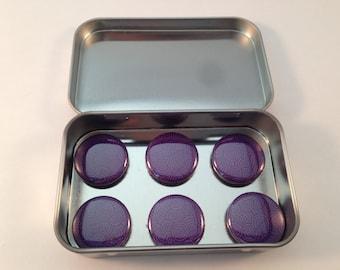 Whimsical Swirl Purple Magnet Set