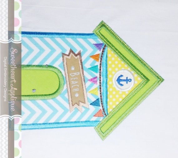 summer beach house applique design summer beach house