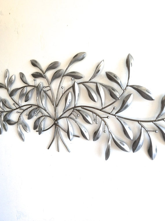 Metal decor sticker m tal decoration murale m tal par for Peinture argentee murale
