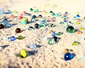 Marbles on the sand. The summer, photography, holidays and travel. in Sicily, fine art print. Photo Print.