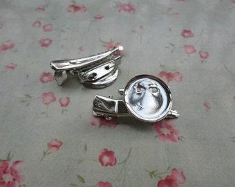 100pcs silver metal Alligator Clip--metal Brooch Pin with 18mm glue pad--HA3004-100