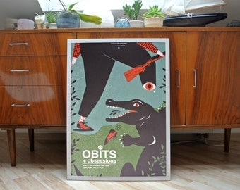 The Obits | A2 screenprint poster | limited edition of 30