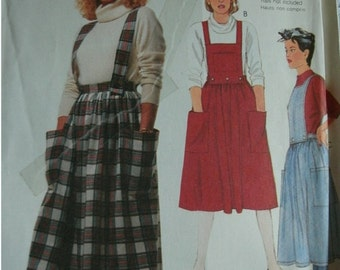 Misses Skirt, Straps and Bibs Size 8  EASY McCalls pattern 2619 Learn to Sew for Fun Pattern UNCUT Pattern