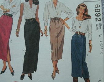 Misses Skirts in 2 Lengths Sizes 10-12-14 McCalls 2 Hour Skirt Pattern 6892  Like New UNCUT Pattern 1994