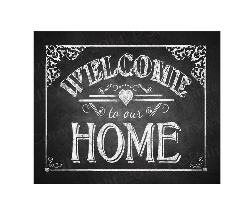 Satisfactory image throughout printable welcome home sign