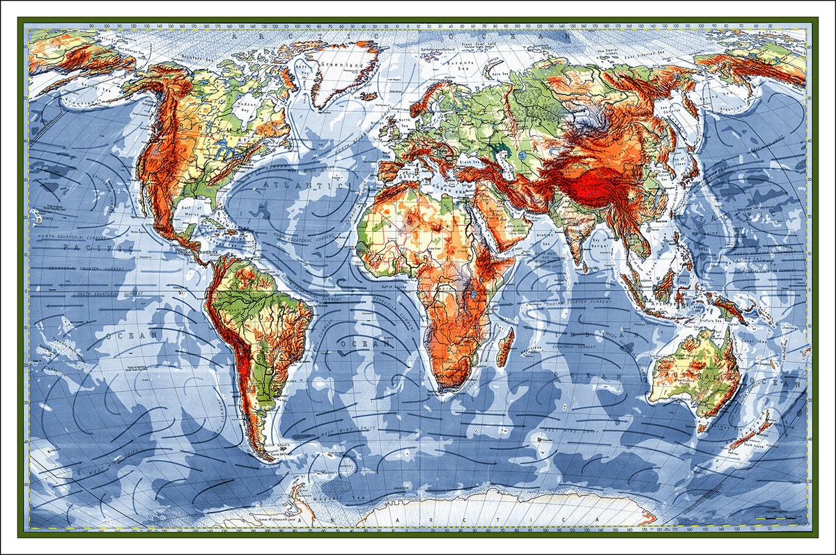 World Map Map of the World World Map Poster Large World