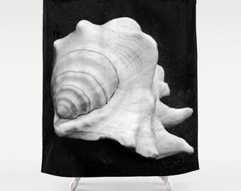 Seashell Shower Curtain, Beach Shower Curtain, Sea Shell Home Decor, Beach  Cottage Decor