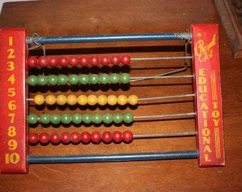 Vintage Math Abacus 1950s