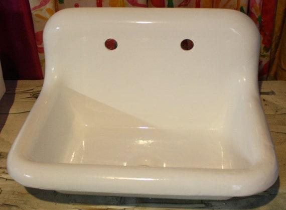 1930 39 s high back roll top roll rim bath sink farm by readytore