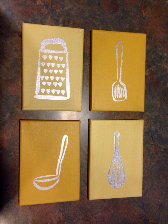 Items Similar To Kitchen Utensil Silhouette Wall Decor On Etsy