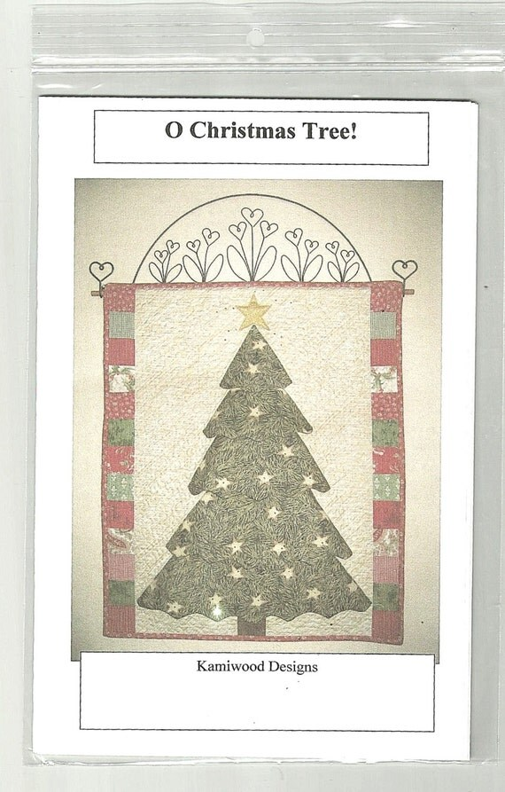 O christmas tree wall hanging quilting pattern