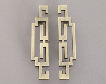 "Pair of 2.5"" 3.75"" 5"" Drawer Pulls Vintage Style Cabinet Door Handles Pull Antique Bronze White Dresser Pulls Handle ARoseRambling 64 96 128"