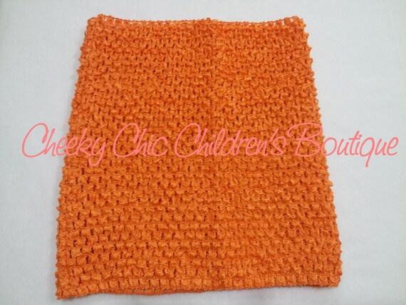 10x9 inch ORANGE Crochet Tutu Dress Tube Top [CB10OR]