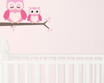 Hoot Girls Fabric Wall Stickers/Wall Decals