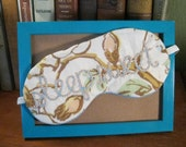 """SALE! hand embroidered """"sleep sweet"""" sleep mask"""