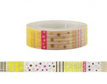 Colorful Washi Tape  - Deco tape-- 15mm x8M
