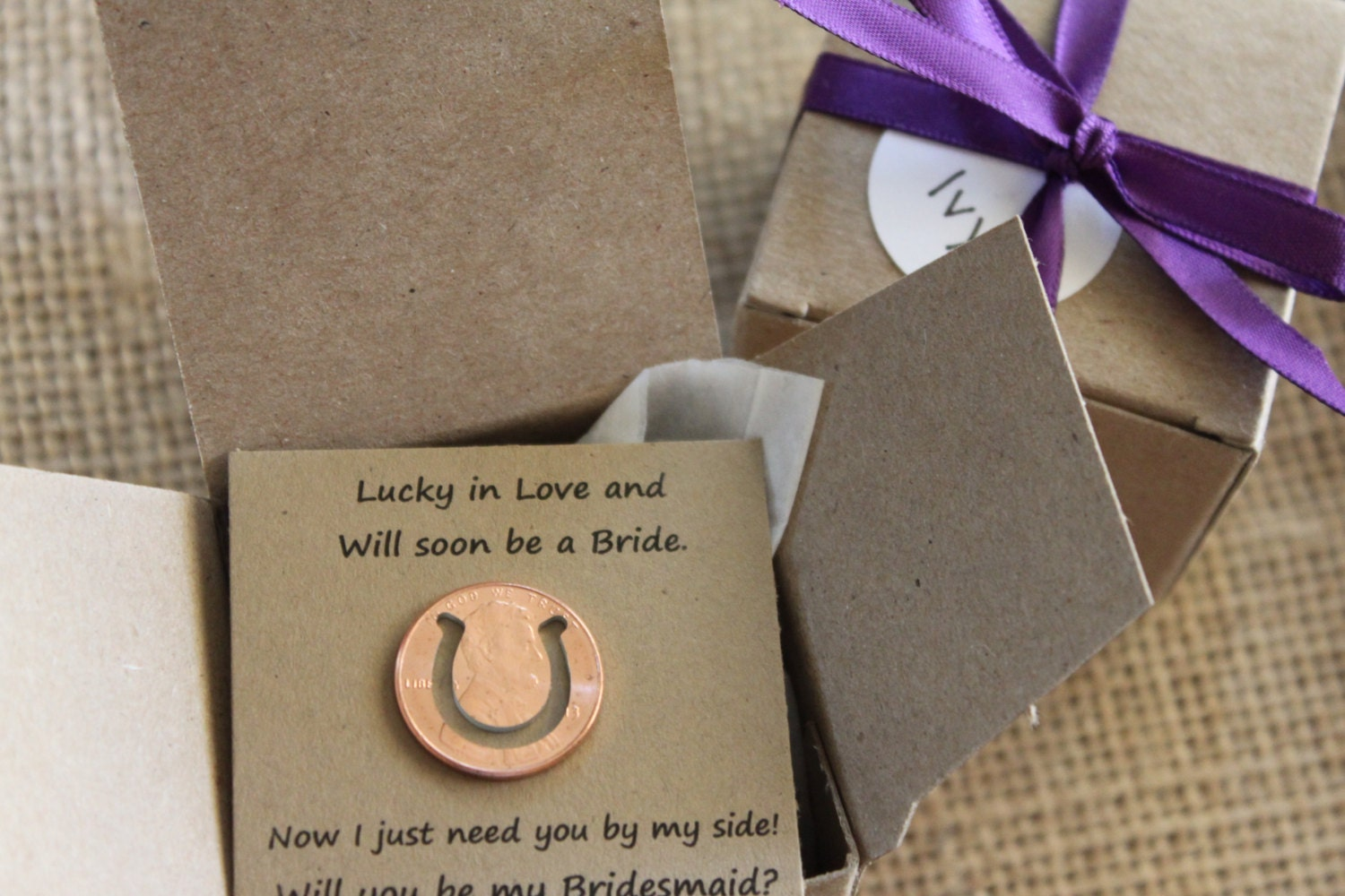 Lucky Wedding Gifts: Lucky In Love Will You Be My Bridesmaid Gift Wedding Favor