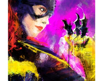 """Batgirl Abstract Art Print, Archival Quality 13""""x19""""    **EXPRESS SHIPPING AVAILABLE**"""