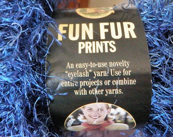 Lion Brand Yarn - Fun Fur - indigo