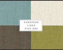 LINEN PILLOW COVER. European Linen Pillow.High End Home Decor.High End Pillow.Blue Linen Pillow.Green Linen Pillow. Cream Linen Pillow.
