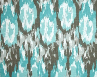 CURTAINS.Teal Curtains.Brown Curtains. Pair of Curtains.Window Treatments. Drapery. Blue Curtains.Brown Pattern Curtains.