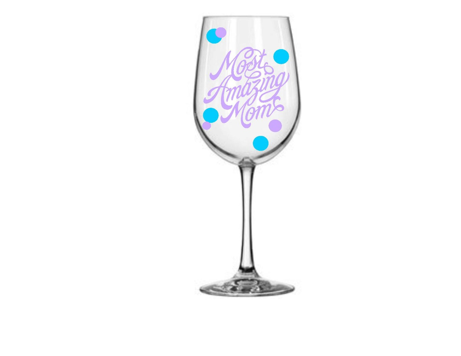 Most Amazing Mom Wine Glass 20 Oz Wine Glass Glitter Stems
