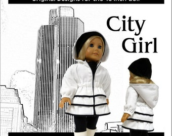 City Girl Coat Pattern for the American Girl or Similar 18 inch Dolls