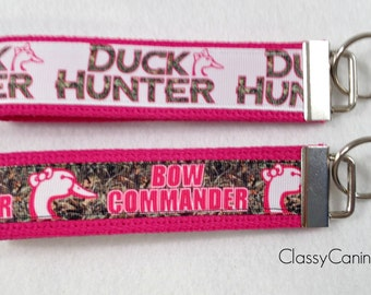 Duck Hunter or Bow Commander Key Fob Wristlet Key Chain