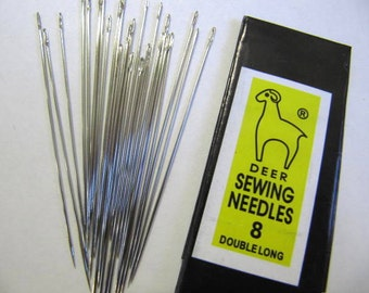 Needles, Pack 25, Size 8, Beading, Sewing, Value Pack, Bead Embroidery, Bead Stringing, Best Value