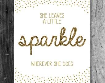 Sparkle (gold) - Printable