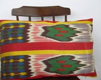 Silk Ikat pillow-Decorative pillow cover-Zigzag  Pillow Cover-throw pillow ikat -ikat Lumbar Pillow cover-