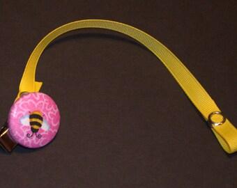 Bumble Bee Binkie Clip - Pink