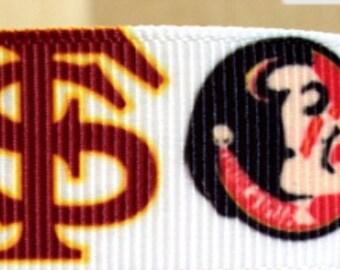 3 Yards FSU Seminole 7/8 Grosgrain Ribbon