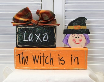 Halloween Witch Block Set
