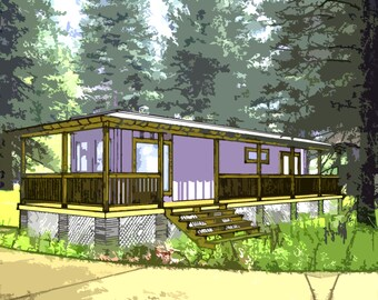 Shipping Container Home Plans 1 Bed 1 Bath - Schematic Design 590 sf