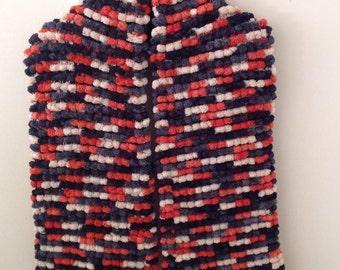 Chunky Multicoloured PomPom Scarf
