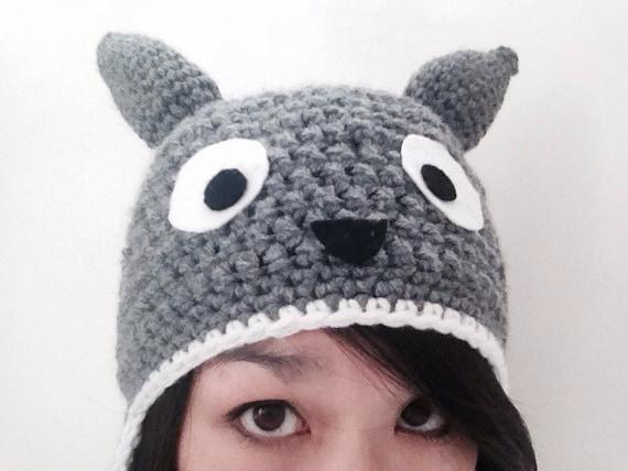 Crochet Pattern Totoro Hat : Crochet Totoro hat beanie by SimplyLKEmporium on Etsy