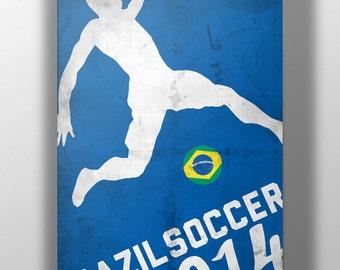 World Cup 2014- Brazil Soccer Print