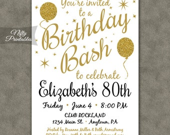 80th birthday invitations | Etsy