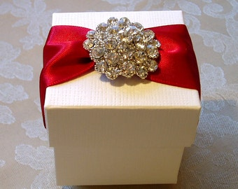 Dazzling Diamante Cluster Decorated Wedding Favour. Bespoke. Various Colour Options.