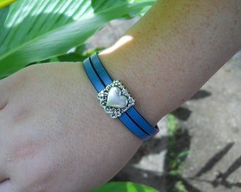 Italian Leather Bracelet-On Sale