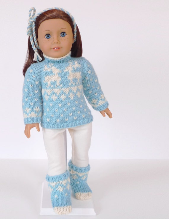 Doll clothes knitting pattern PDF for 18 inch by ...