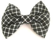 Dog bow tie Black and white dog bow tie Collar bow tie Bow tie for dog Wedding dog bow Pet bow tie