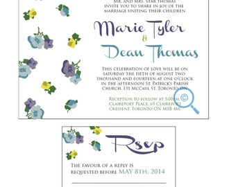Love Flowers Wedding invitation