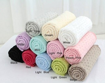 Soft Cuddle Minky Dimple Dot Fabric In 9 Colors By The Yard