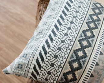 Brushed Cotton Fabric Aztec Gray By The Yard