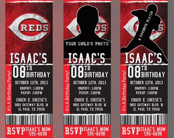 Custom Reds Birthday/Event Invitation!